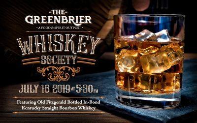 Greenbrier Whiskey Society Event On July 18